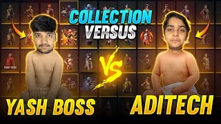 Aditech Vs Yash Yt  Collection Verses 🤯❤️ Richest Collection Of Free Fire Player