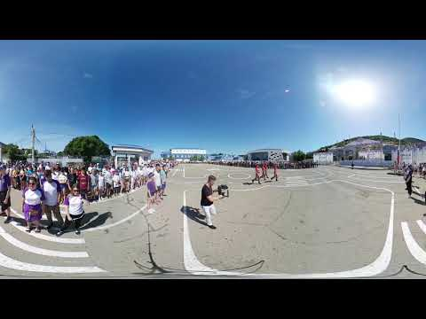 Торжественная линейка и подъем флага РФ на 8-й смене в ВДЦ «Смена» версия 360°