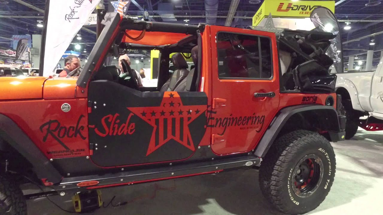 rock-slide engineering aluminum half doors for jeep wrangler jk