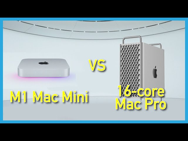 Apple M1 Mac Mini vs. 16-core $18k Mac Pro