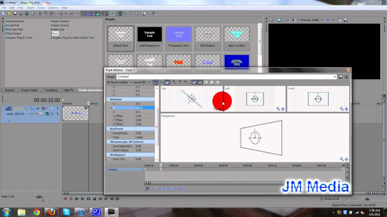 Sony vegas pro 10 tutorial how to create rotating 3d text youtube ccuart Image collections