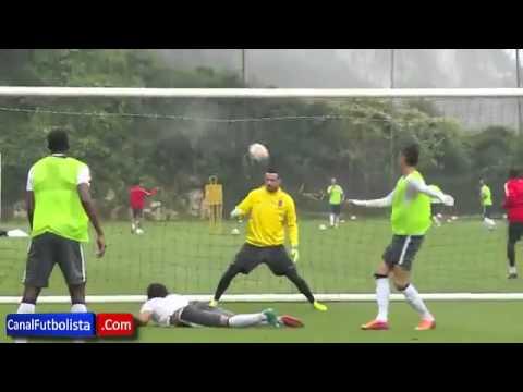 Incredible great goal of Rhadamel Falcao at Mónaco FC training session