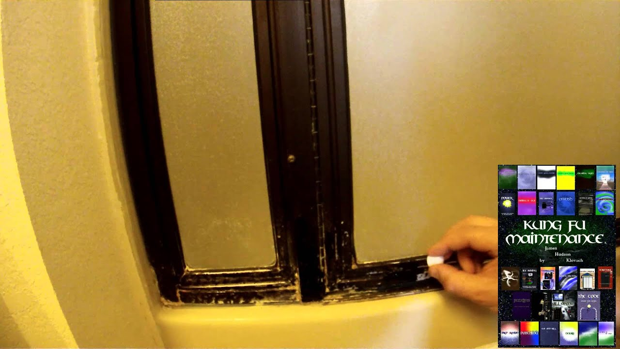 How To Improve Conceal Or Cover Worn Through Brown Anodized Metal Shower  Door Frame Finish   YouTube