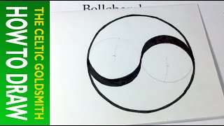 How to Draw a Celtic Spiral 1 - Double Spiral from Book of Kells (similar to Yin Yang)