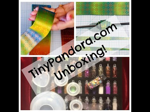 Unboxing Haul Video New Tiny Pandora Products for Polymer Clay and Resin