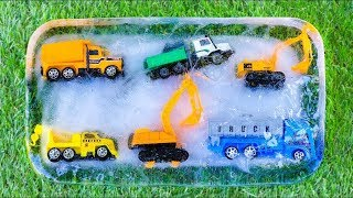 Frozen and Unfrozen Construction Vehicles | Truck , Excavator ,Dump truck , Wheel loader