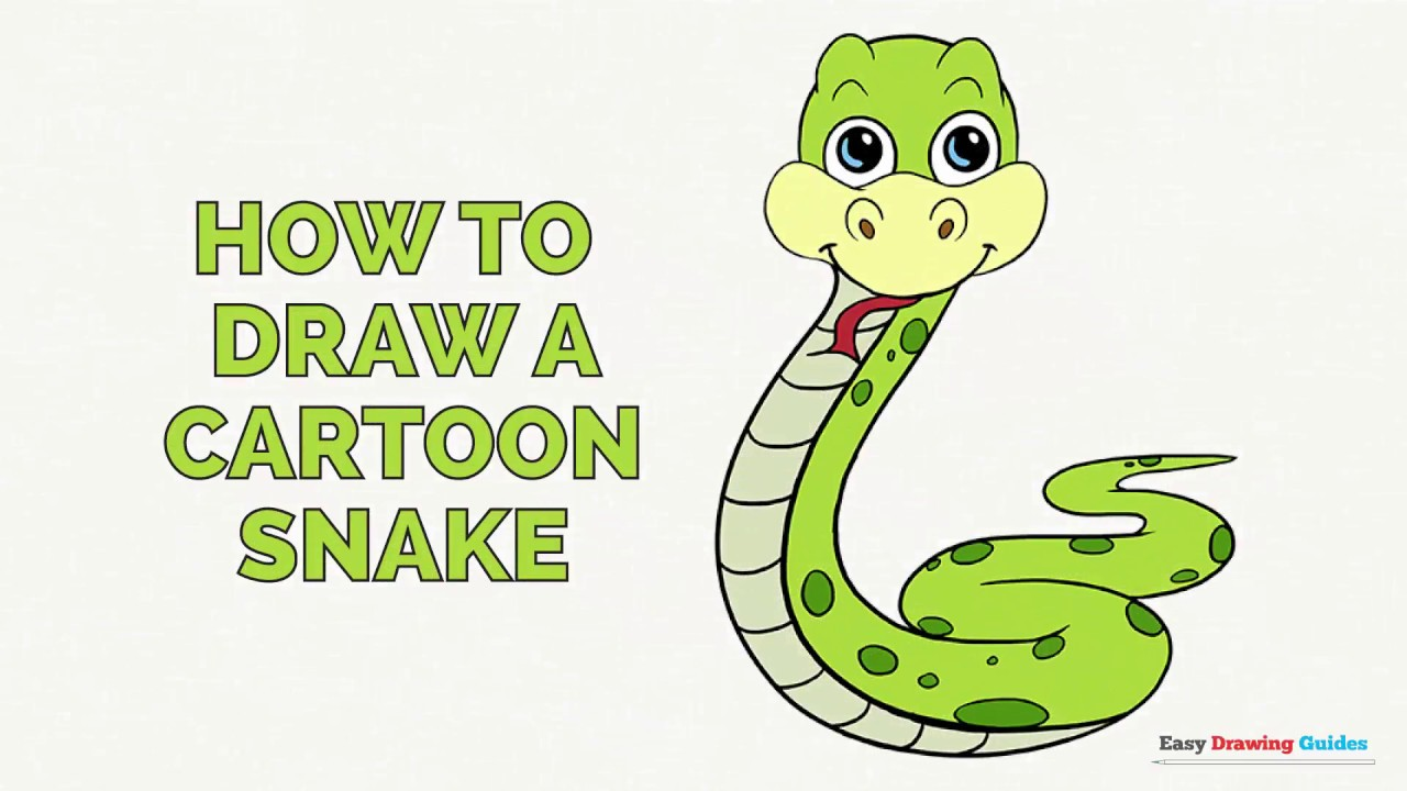 How to Draw a Cartoon Snake in a Few Easy Steps: Drawing ...