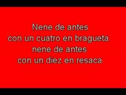 Divididos - Nene de antes - Lyrics