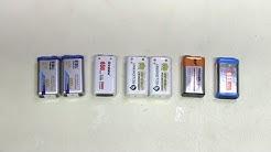 #45 - 9V Li-ion batteries: capacity testing