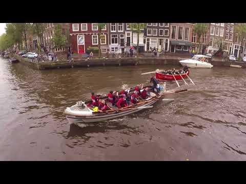 Grachtenrace 2017 - Alle teams - sloeproeien Amsterdam