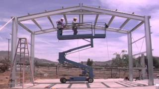 Outback Steel Buildings: 14 - Install Purlins And Roof X-bracing