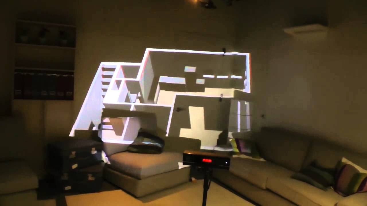 Microsoft's RoomAlive Toolkit can project digital objects into the