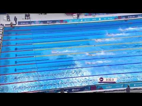 Плавание. Мужская комбинированная эстафета 4х100. Финал. Победа