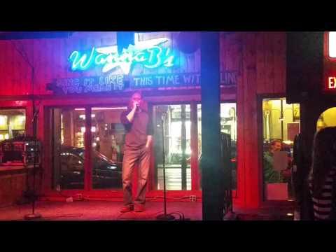 Clint singing karaoke
