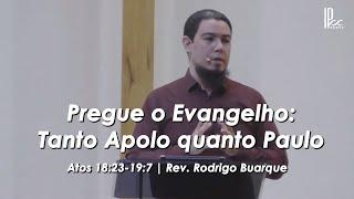 Pregue o Evangelho: tanto Apolo quanto Paulo - Atos 18.23 - 19.7 - 16.08.2020