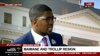 IFP's Mkhuleko Hlengwa wishes Maimane well for the future