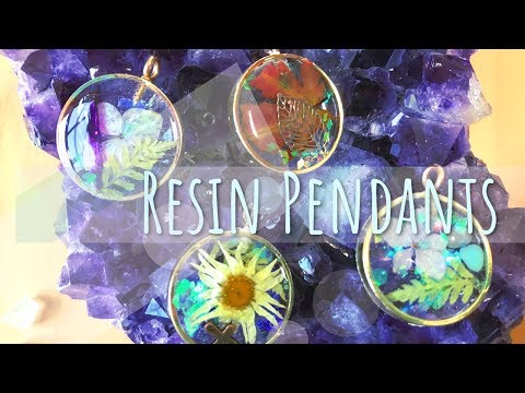 Resin Pendants | Hollow Bezels | Tutorial