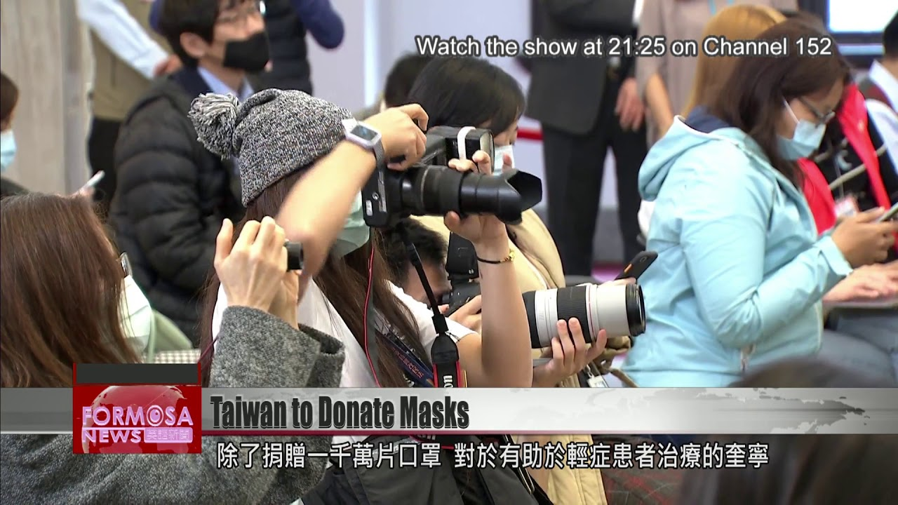 Taiwan donates 10 million masks to COVID-19 stricken countries
