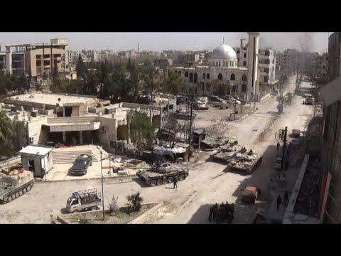 قوات النظام السوري تسيطر على بلدة كفربطنا في الغوطة الشرقية