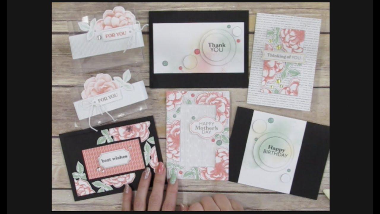 Paper Pumpkin April 2019 Card Ideas Paper Pumpkin April 2019 Sentimental Rose   Alternate Ideas   YouTube