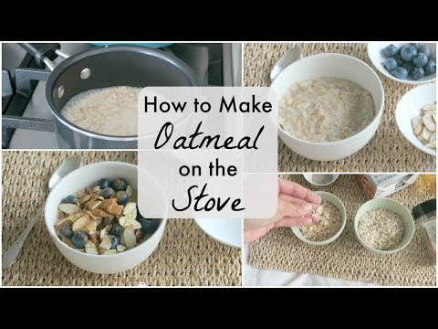 How To Make Creamy and Delicious Oatmeal on the Stove   Easy Rolled Oats Recipe