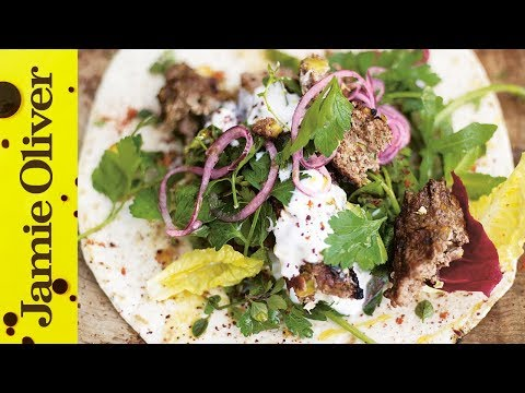 Grilled Lamb Kebabs - Jamie at Home