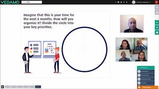 Time management session in Vedamo Virtual Classroom