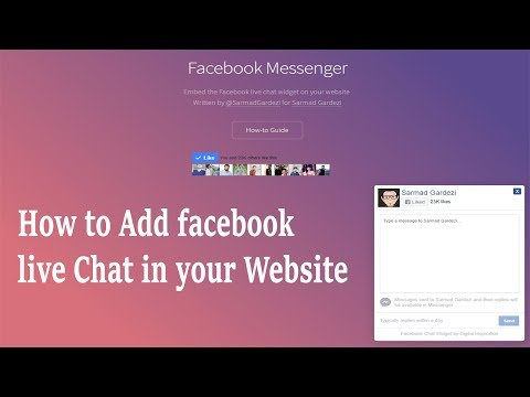 How To Add Facebook Live Chat In Your Website