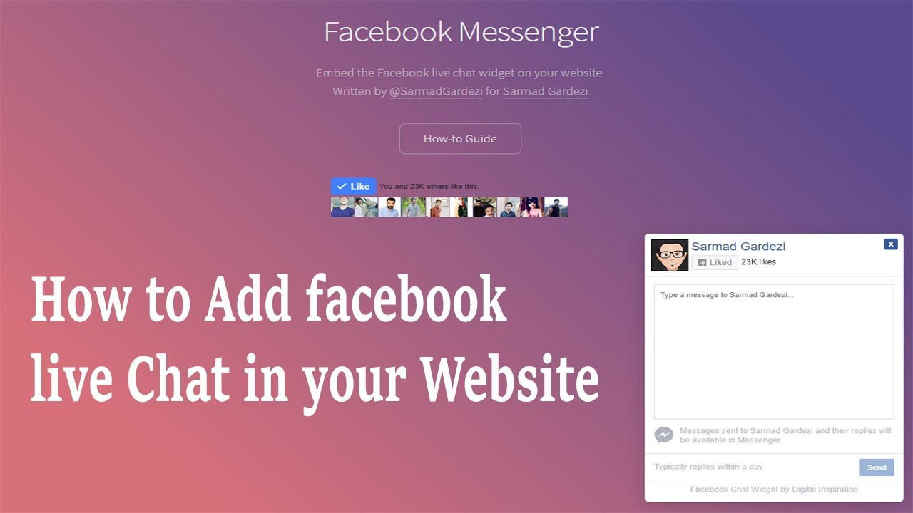 Live Chat Software and Facebook Chat Plugin
