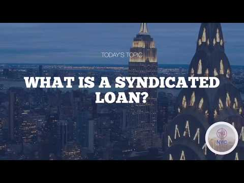 What is a syndicated loan?