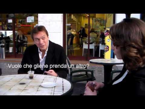 """Antonio Covatta è """"Il Clone di Clooney"""" Parodia spot Nespresso, Con Andreea Alina Person"""