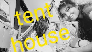 DIY kids Tent house at home Best lockdown Activity Living Room decor ideas on a budget lower sitting