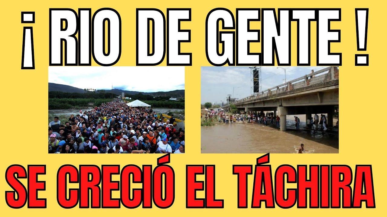 Download AVALANCHA DE PERSONAS ATRAVIESA EL PUENTE SIMON BOLIVAR#maduro#venezuela#trochas