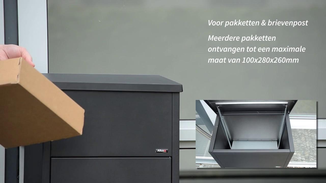 Storslået Allux 600 pakketbrievenbus - Brievenbusdirect.nl - YouTube VD29