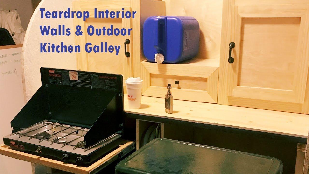 Off Road Trailer Camper >> Teardrop Camper Walls Interior - Outdoor Kitchen Galley DIY Off Road Trailer - YouTube