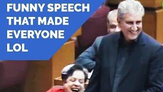 Shah Mehmood Qureshi Speech - PTI vs PMLN Fight in National Assembly - Dunya News