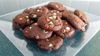 Christmas Double Chocolate Chip Cookies Recipe