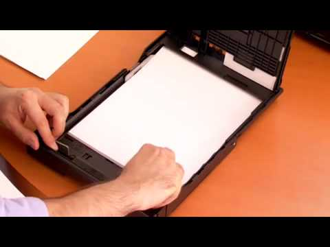 epson printer how to put paper in