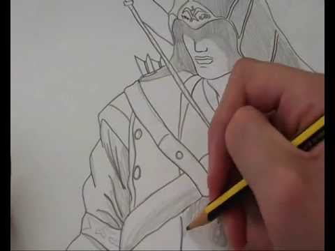 Assassin S Creed Iii Connor Speed Drawing Youtube