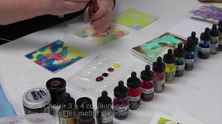Tutoriel sur les encres acryliques Liquitex avec Céline J. Dallaire