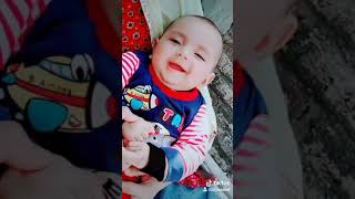 Cute baby smiling video