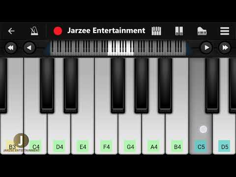 Tip Tip Barsa Paani Piano (Mohra), Akshay Kumar, Raveena Tandan  - Easy Mobile Piano Tutorial