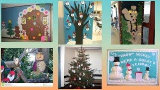 School Christmas decoration ideas || Christmas decoration for school ||