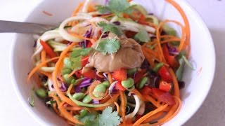 "Raw Zucchini ""pad Thai"" With Free Giveaway"