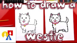 How To Draw A Cartoon Westie