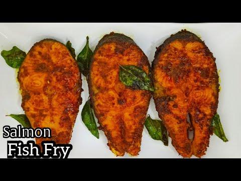 SALMON FISH FRY RECIPE | HEALTH BENEFITS OF SALMON FISH