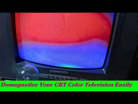 How To Repair Magnetize CRT Color Television (Simple Electronics Tricks) - Bengali Tutorial
