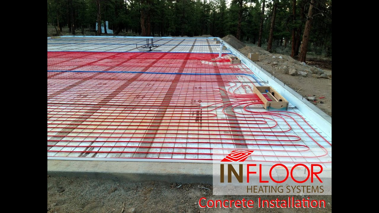 Hydronic Radiant Heating Concrete Application Youtube