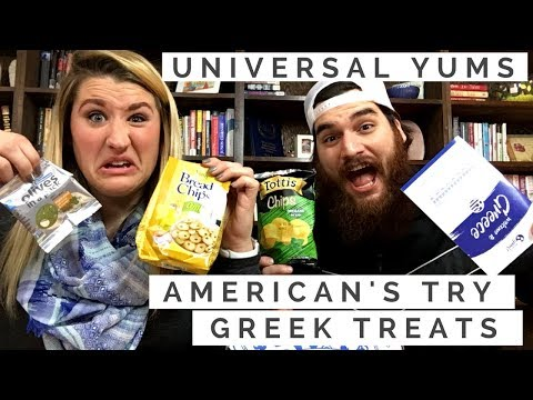 AMERICAN'S TRY GREEK TREATS | Universal Yums
