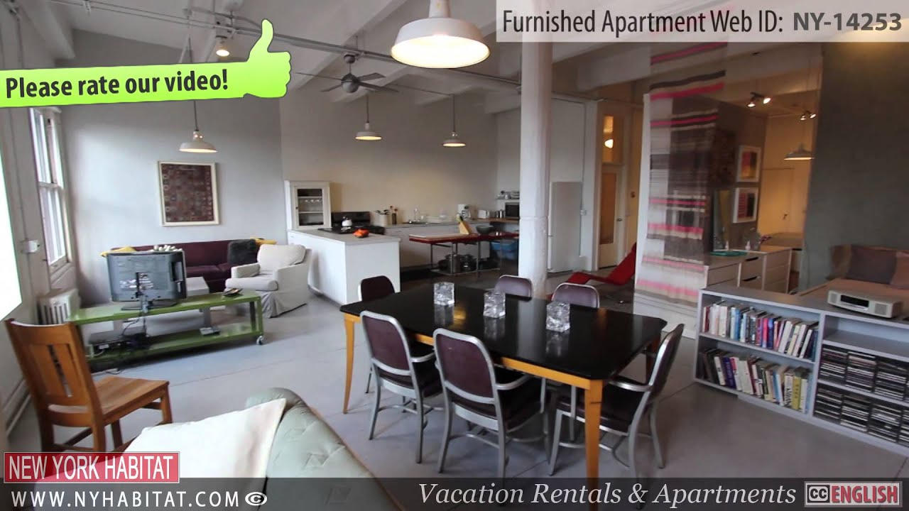 video tour of a furnished studio apartment in chelsea manhattan